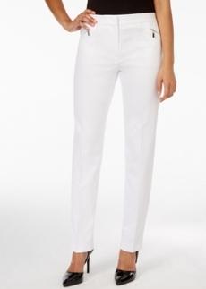 Tahari Asl Zipper-Pocket Straight-Leg Pants