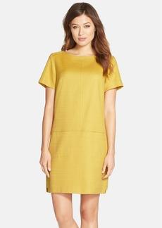 Tahari Basket Weave Shift Dress (Regular & Petite)