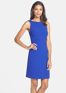 Tahari Bateau Neck Sheath Dress