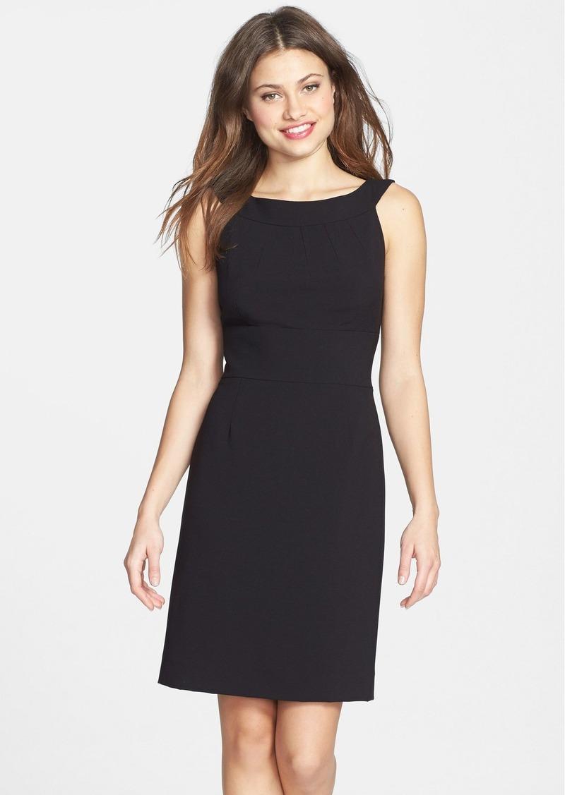 Tahari Bateau Neck Sheath Dress (Petite)