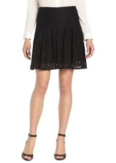 Tahari black 'Alexandra' pleated lace mini skirt