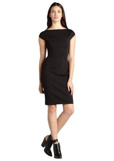 Tahari black and blue stretch 'Ruth' short sleeve dress