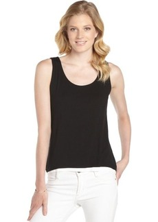 Tahari black and white stretch 'Adonis' sleeveless knit top
