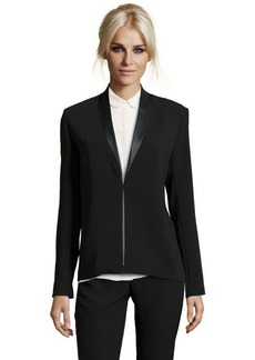 "Tahari black ""Blythe"" jacket with faux leather trim"