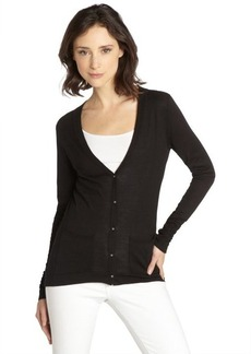Tahari black cotton blend 'Kayden' cardigan