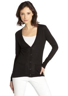 Tahari black cotton blend 'Kayden' cardigan