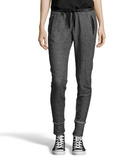 Tahari black cotton knit 'Greta' lounge pants