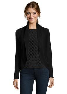 Tahari black cotton knit 'Holly' open c...