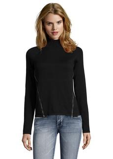 Tahari black cotton rib knit 'Broderick...