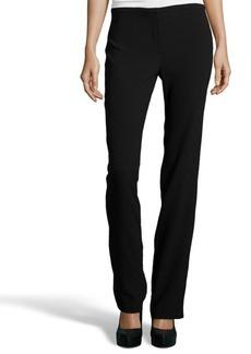 Tahari black crepe 'Theora' straight leg pants