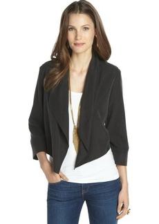 Tahari black 'Farella Bolero' tuxedo jacket