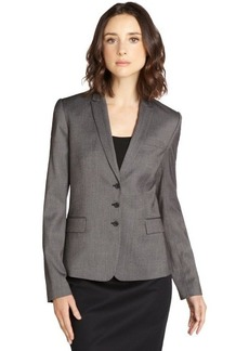 Tahari black microcheck 3-button blazer