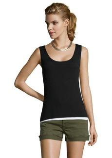 Tahari black stretch jersey knit 'Adonis' sleeveless knit top
