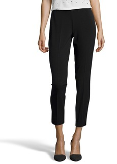 Tahari black stretch 'Juliette' flat front pants