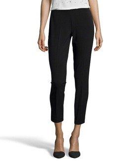 Tahari black stretch 'Juliette' flat front pants
