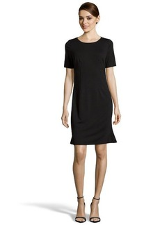 Tahari black stretch 'Sierra' flared sheath dress