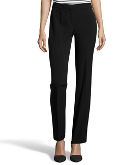 Tahari black stretch 'Theora' flat front pants
