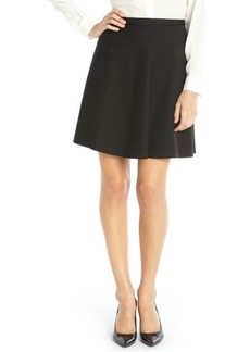 Tahari black stretch woven 'Judy Swing' skirt