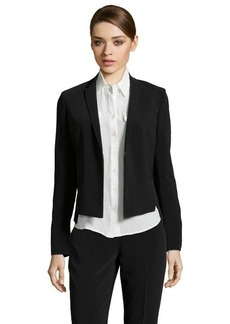 Tahari black stretch woven 'Lindley' blazer