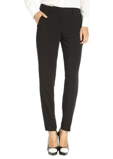 Tahari black stretch woven straight leg 'Alanis' pants