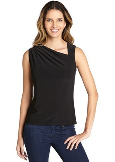 Tahari black stretchy 'Amanda' blouse