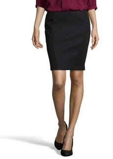 Tahari black tweed and stretch knit 'Gretchen' skirt