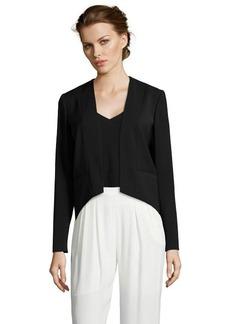 Tahari black 'Winona' cropped front long sleeve blazer