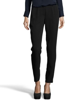 Tahari black woven 'Alanis' french zip fly flat front dress pants