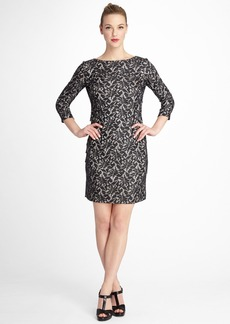 Tahari Bonded Lace Tiered Sheath Dress (Regular & Petite)