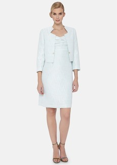 Tahari Bouclé Sheath Dress with Jacket