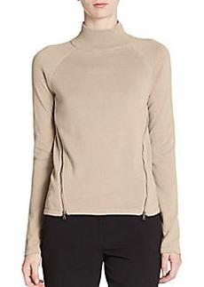 Tahari Broderick Cotton Zip Sweater