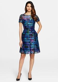 Tahari Burnout Fit & Flare Dress (Regular & Petite)