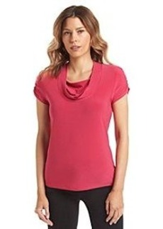 Tahari by Arthur S. Levine® Draped Layered Front Top