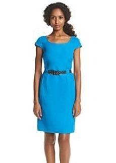 Tahari by Arthur S. Levine® Solid Polka Dot Belt Dress