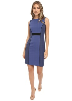 Tahari by ASL Tonal Color Block Sheath Dress