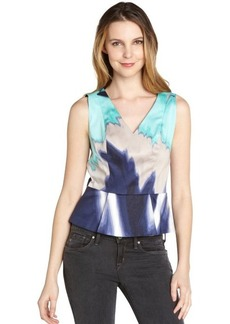 Tahari celeste cotton blend 'Tasha' sleeveless blouse