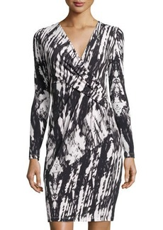 Tahari Celine Long-Sleeve Knit Dress