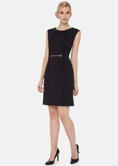 Tahari Chain Detail Stretch Sheath Dress