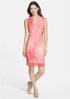 Tahari 'Chandra' Print Sleeveless Surplice Dress