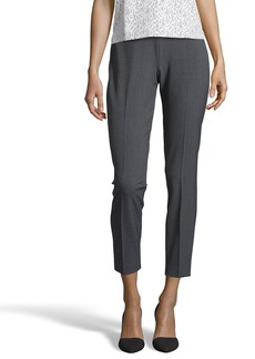 Tahari charcoal stretch 'Juliette' flat front pants