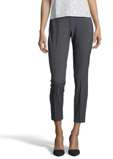 Tahari charcoal stretch 'Juliette' flat front pants