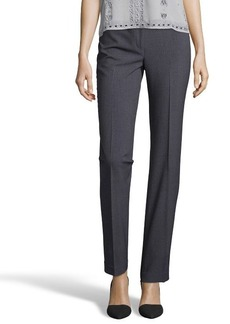 Tahari charcoal stretch 'Theora' flat front pants