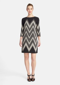 Tahari Chevron Print Shift Dress