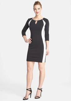 Tahari Colorblock Scuba Body-Con Dress