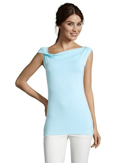 Tahari cool water stretch 'Gwen' drape neck top