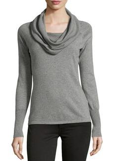 Tahari Cotton Cowl-Neck Sweater