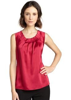 Tahari couture pink silk 'Winona' blouse