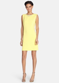Tahari Daisy Embellished Shift Dress (Regular & Petite)