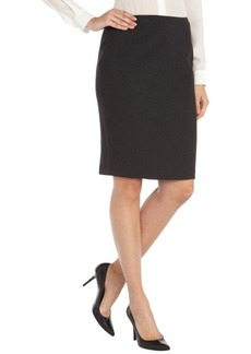 Tahari dark grey stretch woven 'Gretchen' pencil skirt