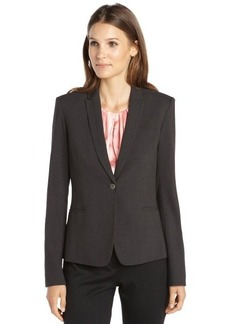 Tahari dark grey stretch woven single button 'Darla' jacket